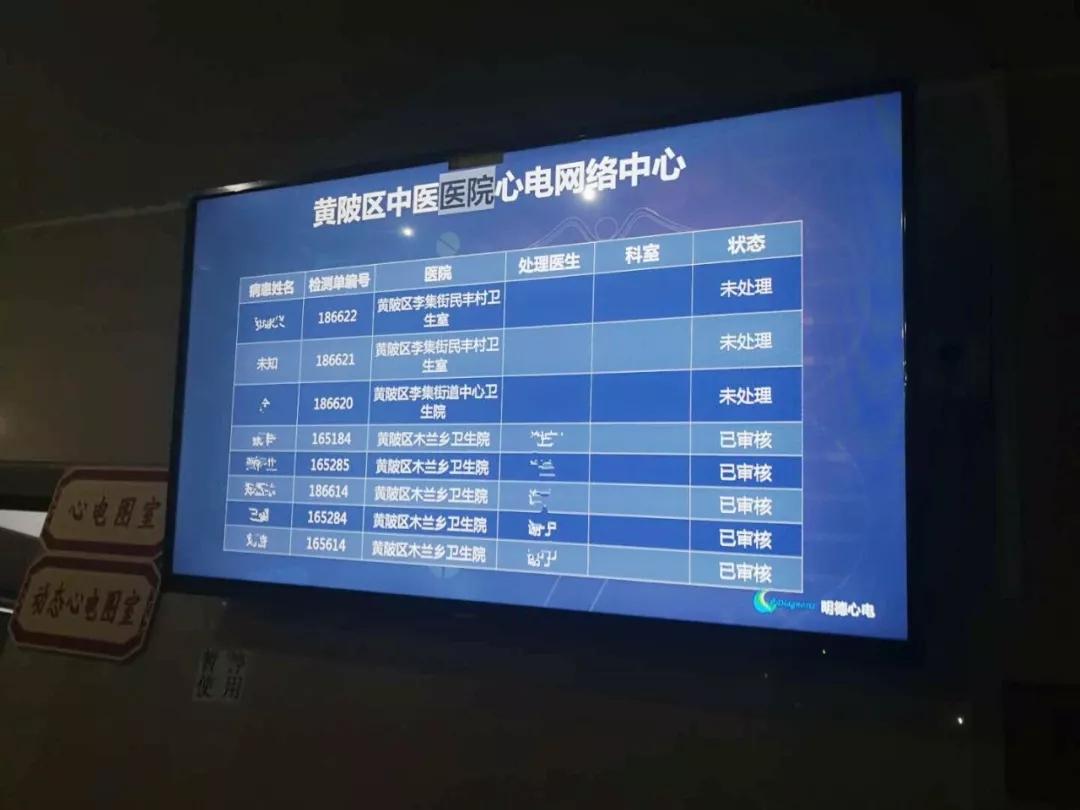 医院心电网络中心大屏幕